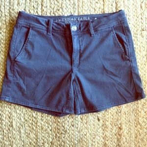 American Eagle Outfitters Khaki Midi Shorts